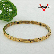 Mingfu plating gold magnetic healthy light weight gold jewellery