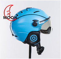 New 2014 Fashion skiing helmet with visor, high-end quality full face snow helmet with CE