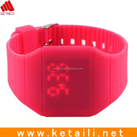 Wholesale factory price silicone led watch , silicone sport watch , silicone digital watch