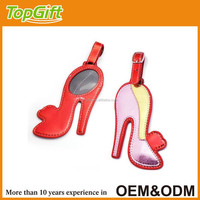 Lady's luggage tag in PU leather material for wholesale