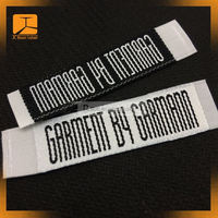 AVA car logo clothing woven labels with overlock borde