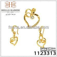 Heart Shape Deisgn Jewelry Set 1123313