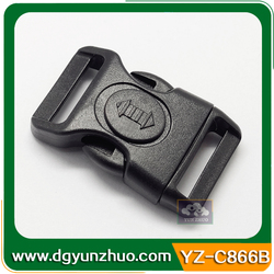 Curved Plastic buckle for belts,Plastic luggage buckles,Plastic bag buckes