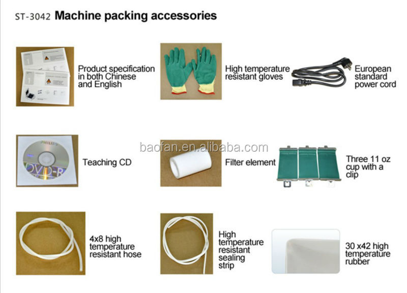3d sublimation vacuum machine accessories