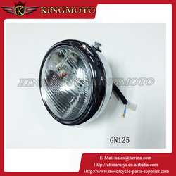 KINGMOTO 20151018 Street Bike Chopper Motorcycle Chrome Head Light Front Lamp For Suzuki GN125 12V