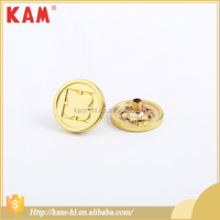 Fashion custom shirt gold metal classic design button
