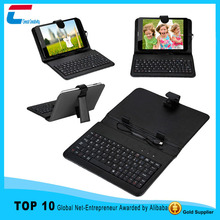 standable pu tablet case with silicone keyboard for Ipad mini 2 ,3 ,4 ,5
