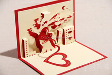 new laser cut invitation 3d greeting cute gift postcards