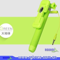 2015 Rgknse factory wholesale 100pcs supreme mini foldable colorful wired selfie stick