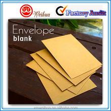 Blank kraft paper envelopes/low price paper envelope