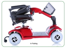 Handicapped Disabled Foldable Folding Mobility 4 Wheel Electric Scooter