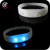 2015 Low Price Crazy Party Favor Selling China Wholesale Led Silicone Stap Bracelet