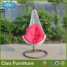 metal swing frame for garden rattan swing chair