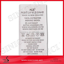 Sinicline custom demask woven label wash care label for t shirts