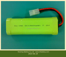 Hot sale sc 7.2v 1800mah ni-mh rechargeable battery for vacuum cleaner