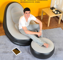 deluxe inflatable sofa lounge with inflatable stool/inflatable sofa with foot rest/ottoman