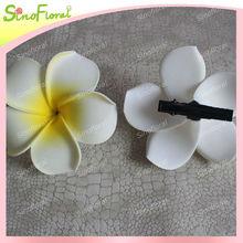 Eva de la espuma plumeria hawaiano clip de espuma de flores frangipani negro con clip