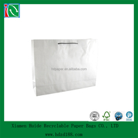 2015 DELUXE white kraft paper bags with handles