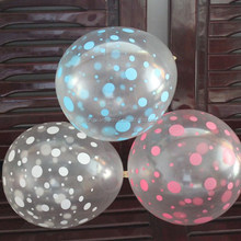 manufacture good quality 12inch clear transparent round shaped latex balloon