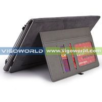 For New Apple iPad 4, iPad 3 & iPad 2 Premium Folio Leather Case / Cover and Flip Stand With Magnetic Auto-Sleep Function