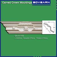 Wholesale crown molding /dental carved PU cornice molding