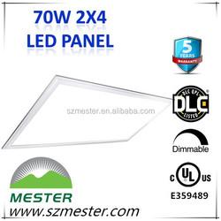 120V dlc ul 0-10v dimming 2x4 ft 70w LED Panel Light