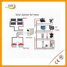 1500W High quality solar power system for small homes with easy System