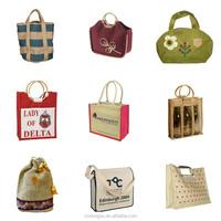 Cheaper price recycle burlap jute bag with handles