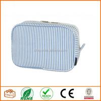 Compartment Cosmetic Bag Make Up Bag Toiletry Bag Royal Blue