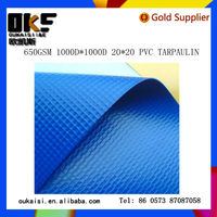 pvc tarpaulin 650gsm 1000D*1000D 20*20 for truck cover tent fabric