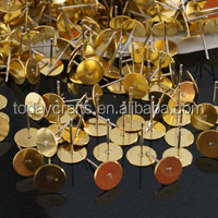 5*12mm flat earring pin for jewelry making