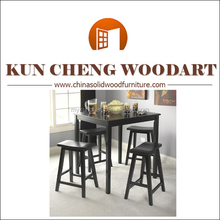 5pc Dining Set Kitchen DinetteTable 4 Chairs Buffet Table Modern Wood Dining Furniture