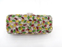 fashion studded clutches crystal bags skull crystal bags peacock crystal bags