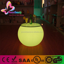 plastic housing multi color changing home use led cocktail bar tables