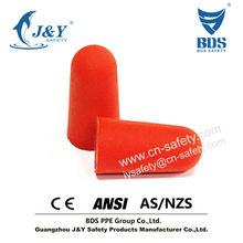 2015 Hot sales PU foam noise cancelling earplug for airline meet CE EN352-2 ANSI AS/NZS 1270 standard