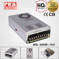 CE MS-300-15 15vdc 20a led ac-dc 300w 15v switching model power supply