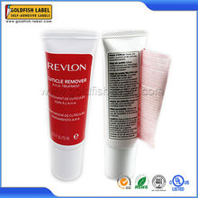 Promotional printing adhesive red peel off labels, custom red label