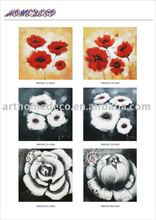 Giclee flower oil painting on canvas