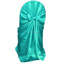 Fashion lamour satin chair cover with sash banquet chair cover