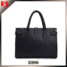 2015 western style man handbag black leather laptop briefcase