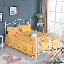Butterfly Style White Black Pink King Size Queen Size Wooden Slat Bed