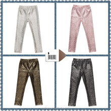 Hot selling girls shiny panties, trousers jeans, baby ruffle pants