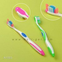 Medium Bristle Adult Toothbrush/Brush With Tongue Cleaner/Adult Toothbrush