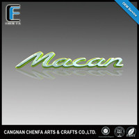 Custom hot sale 3D ABS plastic chrome car logo ,car logo and their name