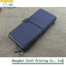 PU Leather diary Notebook With Waterproof cover/blue organizer notebook