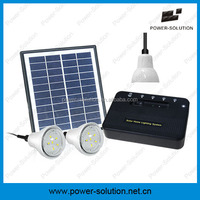 Money & energy saving solar panel with power bank for rural home lighting