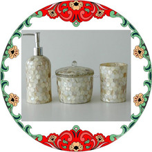 2015 New Products Bathroom Accessories/250ML Shell Mosaic Bathroom Set for Home Decoration
