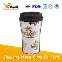 450ml 16oz Double wall plastic cup with paper insert