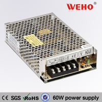 Non-waterproof 60W ac dc power converter 24v 60w power supply