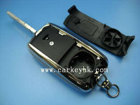 New VW 3 button folding flip key shell with key chain